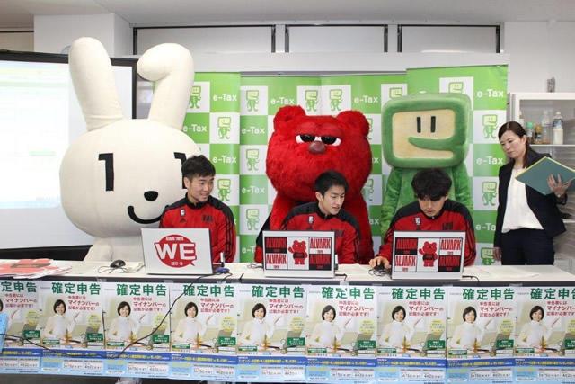 立川署Bリーグのアルバルク東京の選手がマイナンバーの記載をPR